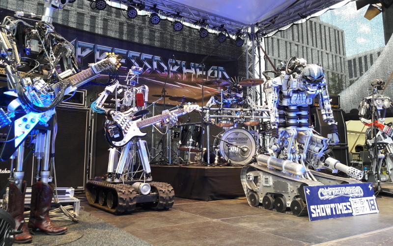 Futurium 2017: Compressorhead - die erste Roboter-Band
