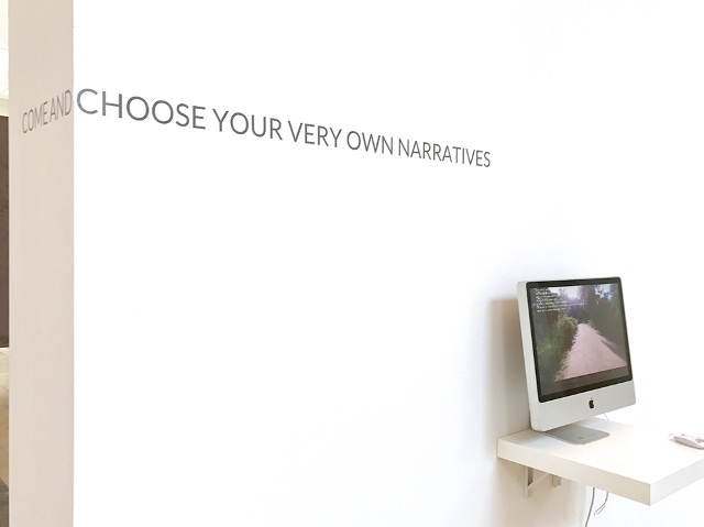 Great Days: Installation Rückseite - Come and choose your very own narratives