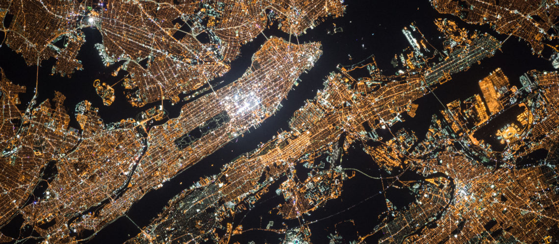 Digitale Landkarte Stadt von oben