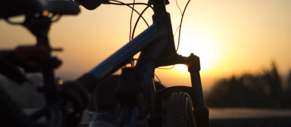 Fahrrad Sonnenuntergang