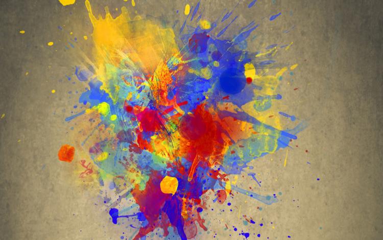 bunte Farbexplosion
