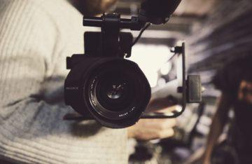 im Fokus einer Kamera
