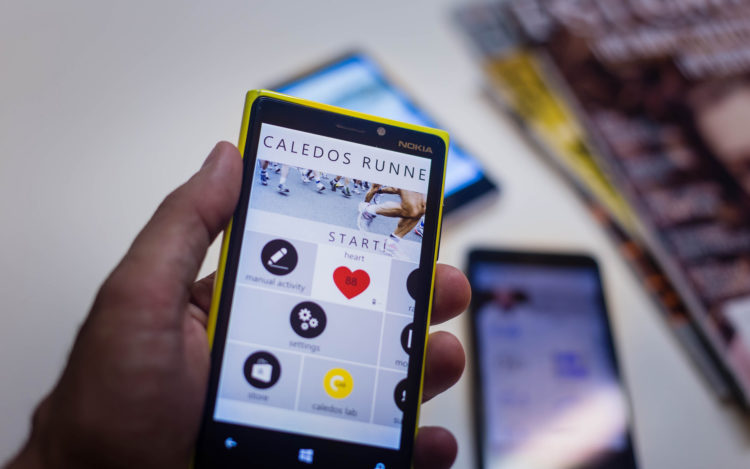Fitness App auf einem Smartphone