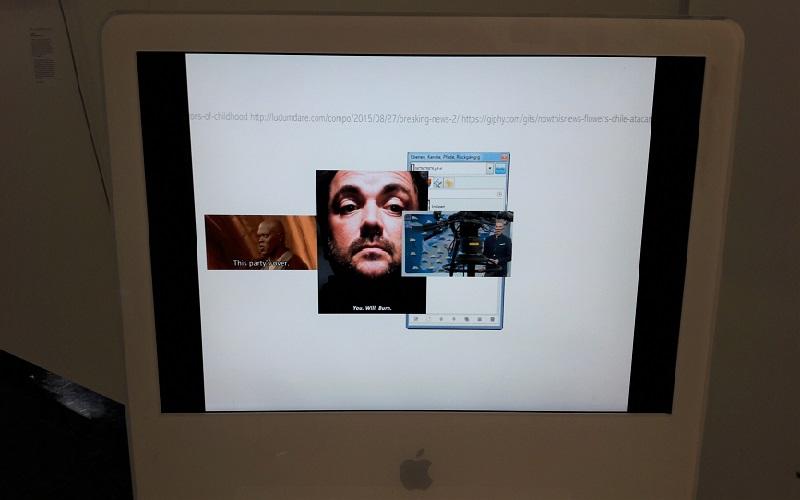 Screen Bildschirm mit Bildern und URL digitales Kunstwerk A LOOP LOOPS von Hara Shin