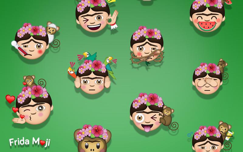 Beispiele für künstlerische Frida Kahlo Emojis