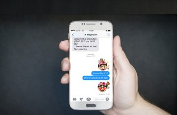 Smartphone Chatverlauf mit einem Frida Kahlo Emoji