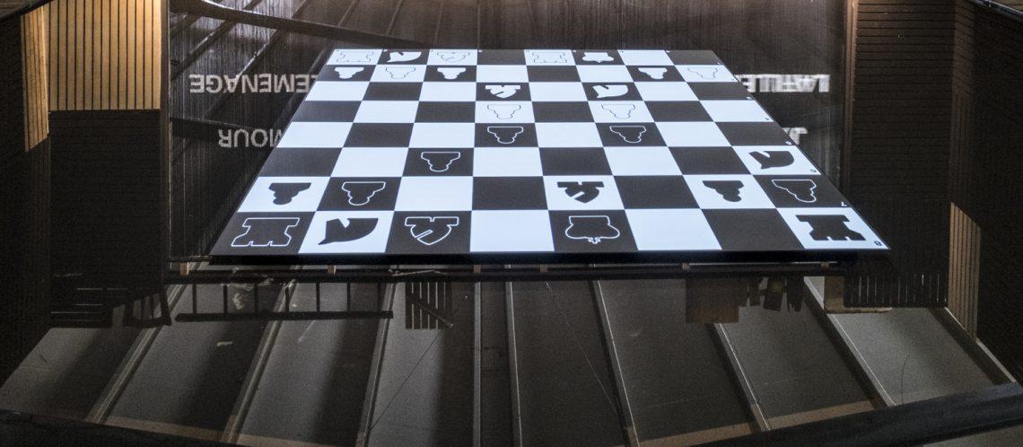 Digitales Schachbrett auf der Documenta 2017