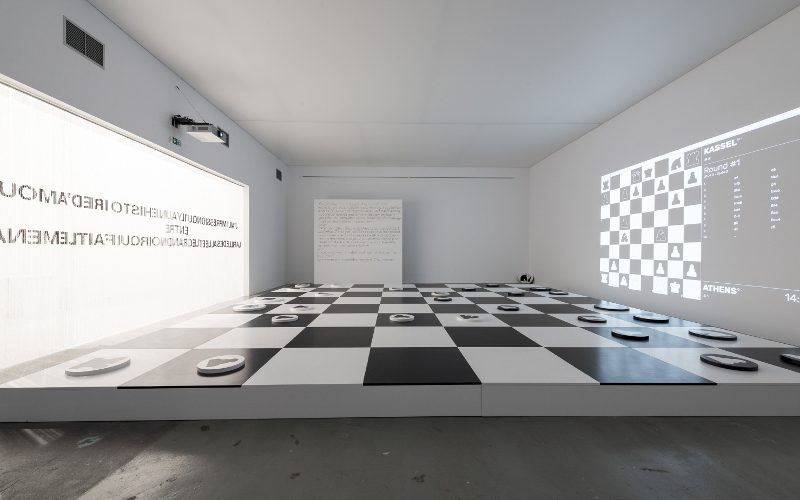 Installation The Chess Society Schachbrett in Bonn