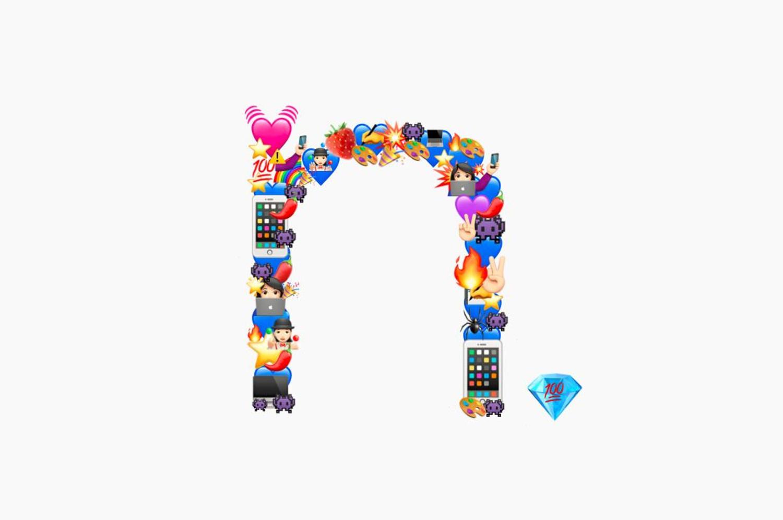Bilder aus Emojis: neoavantgarde Logo aus Emojis mithilfe der Website Emoji.ink.