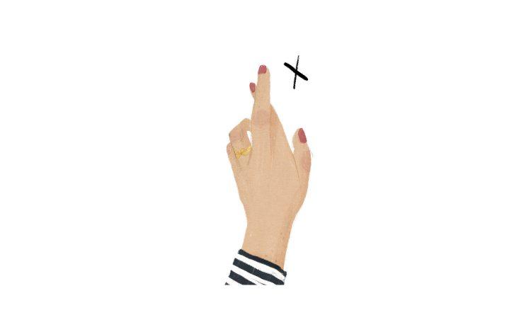 Illustration von Ann-Kathrin Poneta zum Artikel: Fingers crossed: Instagram Trend #Gerwomany als Wahlaufruf an alle Frauen