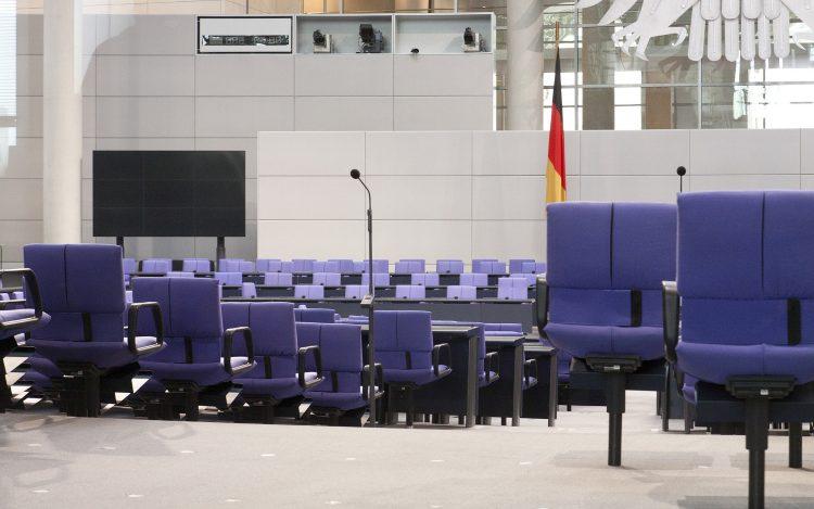 Bundestag Sitze Saal zum Artikelthema Wahlkampf 2017