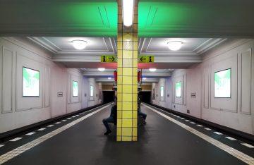 U-Bahn Station Friedrichstraße Kunst in Berlin