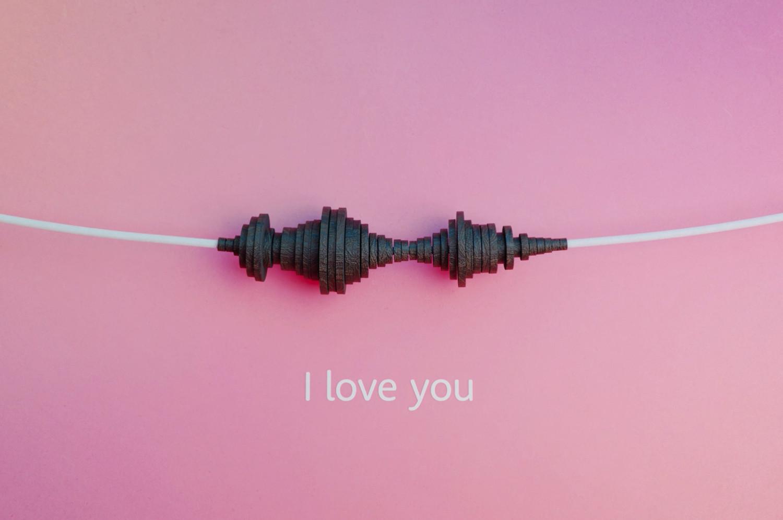 """""""I love you"""" - Vorschau einer Soundwave-Kette zum Thema """"Digitale Kunst: David Bizer verwandelt Töne in Schmuck"""""""