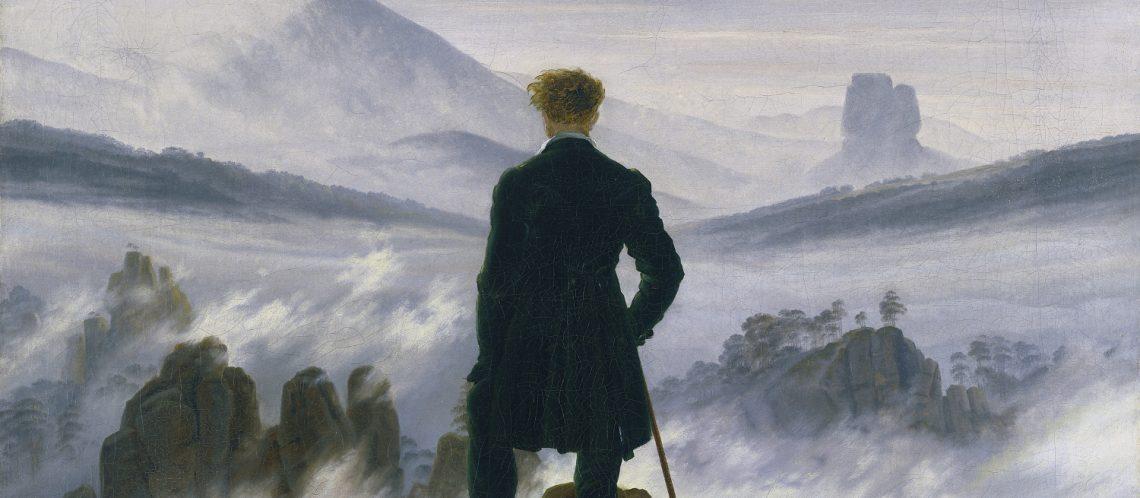 Ausschnitt von dem Gemälde Der Wanderer über dem Nebelmeer von Caspar David Friedrich zum Artikel Wanderlust in Berlin Ausstellung zeigt den Kult der Romantik