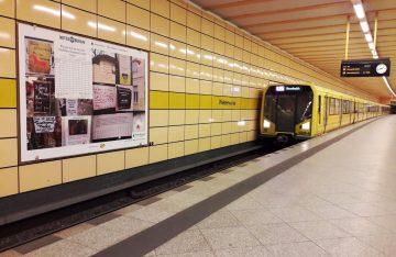 U-Bahn Weberwiese Zettelausstellung