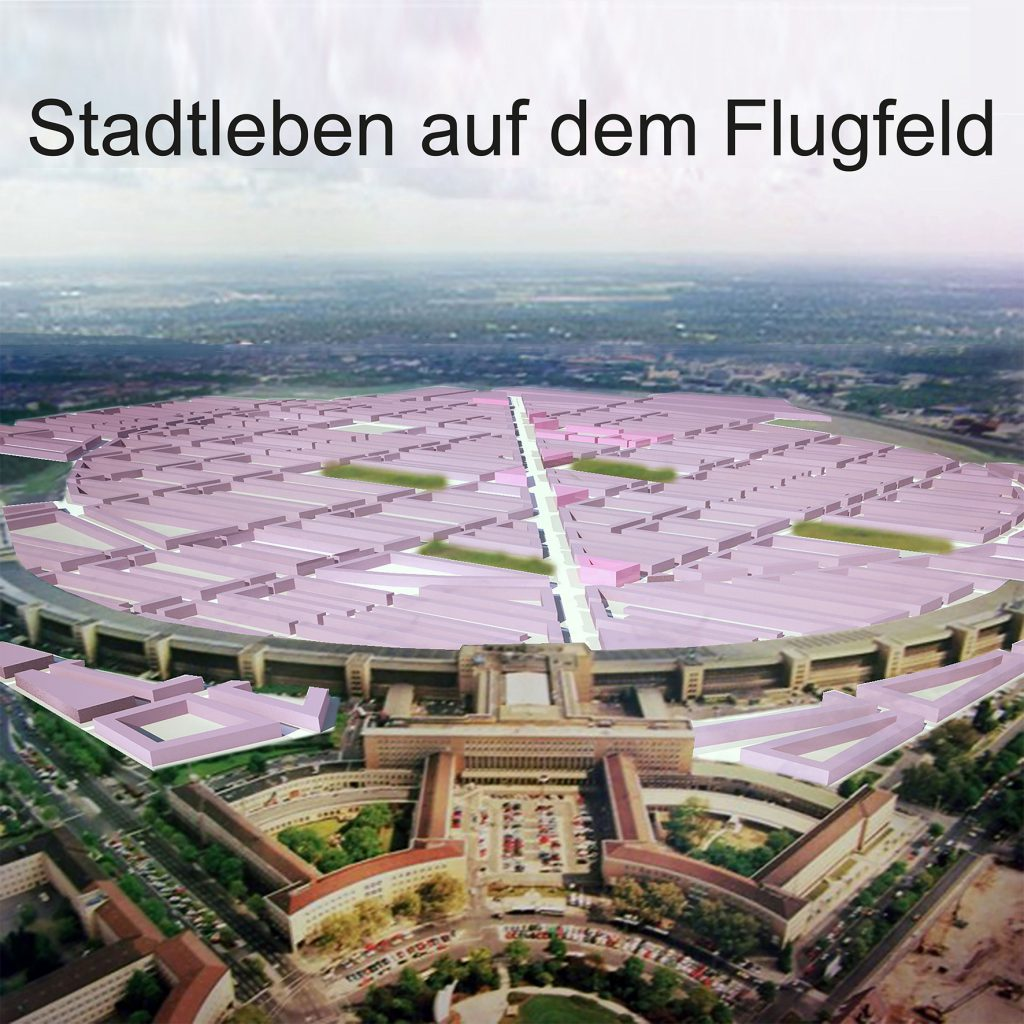 BDA Ausstellung: STADTLEBEN AUF DEM FLUGFELD von Klaus Schäfer