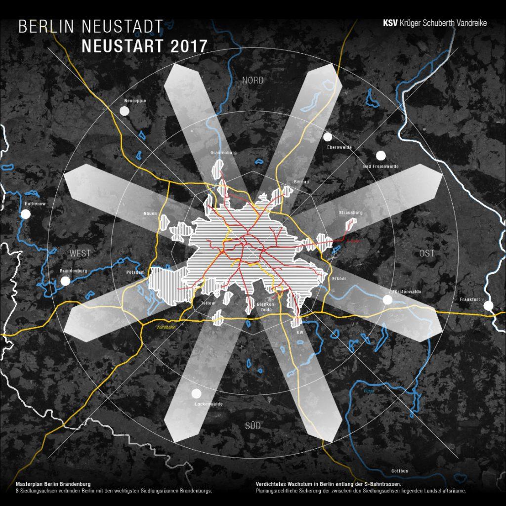 BDA Werk zur Zukunft, Stadtentwicklung Berlin: NEUSTART 2017 von KSV Krüger Schubert Vandreike