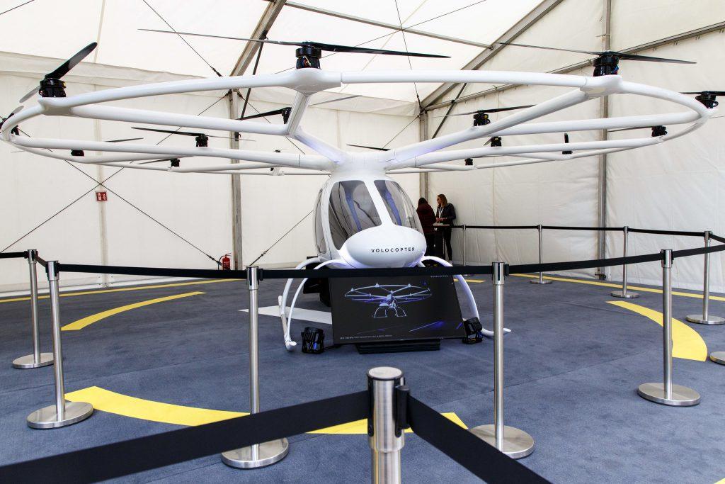 Berlin: Ein Volocopter auf der republica. Foto: Jan Michalko/re:publica